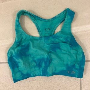 Champion blue tie-dye sports bra
